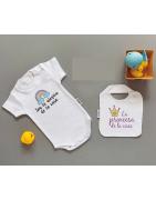 Bodys personalizados con el nombre del bebé